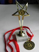 Отдается в дар Медаль и кубок за первое место