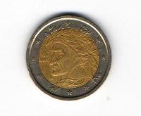 Отдается в дар Монета 2 евро Италии 2002 г.