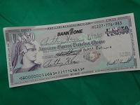 Отдается в дар американский именной чек на 50 долларов
