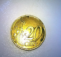 Отдается в дар монета 20 центов ИТАЛИЯ 2002 год