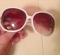 Отдается в дар Солнечные очки белые