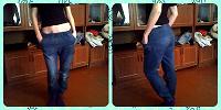 Отдается в дар джинсы на резинке.
