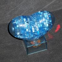 Отдается в дар 3D паззл «Голубое сердце»