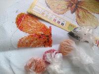 Отдается в дар Для вышивальщиц бисером (незаконченная вышивка)