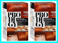 Отдается в дар 2 «рыжие» краски для волос «L'Oreal Prodigy» 7/40 Огненный Агат медно-русый.