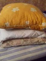 Отдается в дар 2 одеяла и 3 подушки. Б/у но в хорошем состояние.