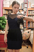 Отдается в дар Платье с бахромой