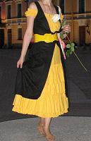 Отдается в дар Черно-желтое платье