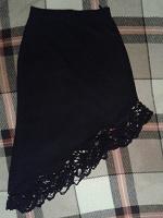 Отдается в дар Черная шерстяная юбка
