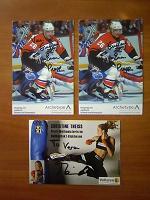 Отдается в дар Чистые открытки с автографами спортивные