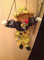 Отдается в дар Клоун на веревочках