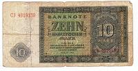 Отдается в дар Бона 10 дойч марок 1948 год