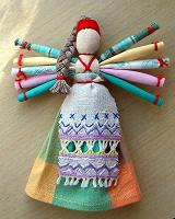 Отдается в дар Народная обереговая куколка — десятиручка.