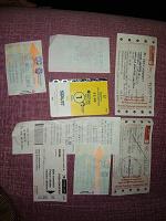 Отдается в дар Проездные билетики из разных стран
