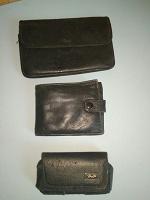 Отдается в дар Мужской кошелек, портмоне и чехол для кнопочного телефона