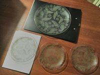 Отдается в дар Четыре прозрачных тарелки с рисунком из набора