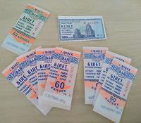 Отдается в дар Транспортные билеты