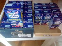Отдается в дар Детское питание — жидкие кашки фрутоняня 29 штук