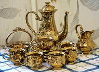 Отдается в дар Сервиз чайный под золото