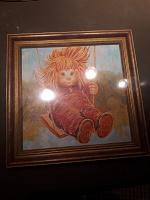 Отдается в дар Картина маслом «Крылатые качели»