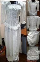 Отдается в дар Платье в русском стиле из х/б шитья, р-р 44