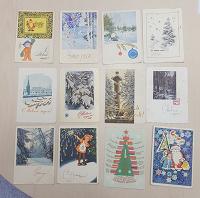 Отдается в дар Новогодние открытки 60-е