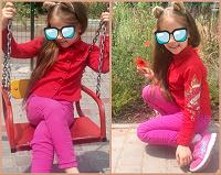 Отдается в дар Крутая рубашка + джинсики скинни для девочки
