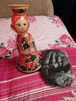 Отдается в дар Деревянная куколка + чай