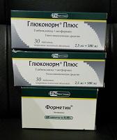 Отдается в дар Лекарства:-Форметин(Метформин), Глюконорм Плюс.