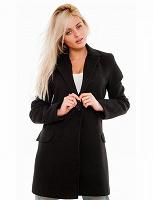 Отдается в дар Черное пальто в английском стиле Caractere (lana vergine)размер L