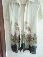 Отдается в дар Длиная блузка — накидка летняя 46-48+-