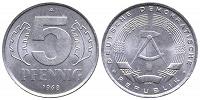 Отдается в дар 5 пфеннигов 1968