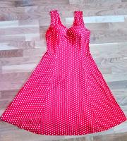 Отдается в дар Женственное платье в горошек 44-46