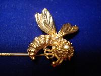 Отдается в дар Брошь винтажная «Пчела», США 70-ые годы.