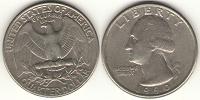 Отдается в дар 25 центов США 1990