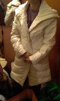 Отдается в дар Пальто белое пуховик
