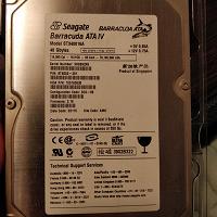 Отдается в дар HDD 40Гб