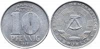 Отдается в дар 10 пфеннигов 1968