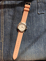 Отдается в дар Часы с розовым силиконовым ремешком