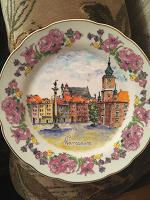 Отдается в дар Декоративная настенная тарелка «Варшава»
