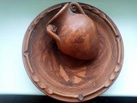 Отдается в дар Тарелка декоративная, глина