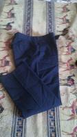 Отдается в дар Одежда для мальчика-брюки школьные синего цвета 40р р. 158