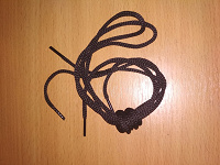 Отдается в дар Шнурки черные круглые