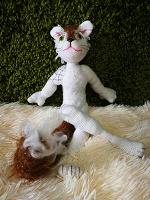 Отдается в дар Вязаная кошка