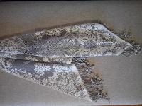 Отдается в дар Ажурный платок-накидка