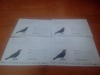 Отдается в дар Четырнадцать черных ворон на конвертах