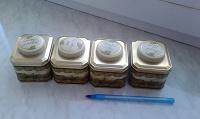 Отдается в дар 4 красивые баночки из-под чая