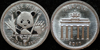 Отдается в дар Панда на инвестиционной монете Германии, серебро