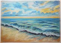 Отдается в дар «Закат на море».