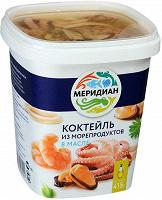 Отдается в дар «Меридиан», коктейль из морепродуктов в масле